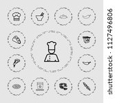 cuisine icon. collection of 13...   Shutterstock .eps vector #1127496806
