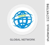 vector global network icon  ... | Shutterstock .eps vector #1127497598