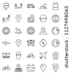 thin line vector icon set  ... | Shutterstock .eps vector #1127498063