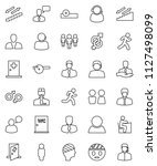 thin line vector icon set  ... | Shutterstock .eps vector #1127498099