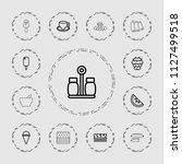 tasty icon. collection of 13...   Shutterstock .eps vector #1127499518
