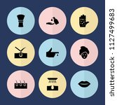 set of 9 skin filled icons such ... | Shutterstock .eps vector #1127499683