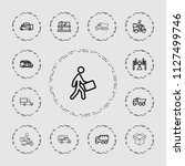 deliver icon. collection of 13... | Shutterstock .eps vector #1127499746