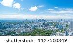 tokyo landscape wide early... | Shutterstock . vector #1127500349