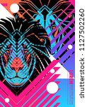 cover with design of lion's... | Shutterstock .eps vector #1127502260