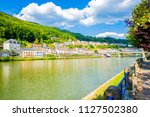 idyllic montherm  and the river ... | Shutterstock . vector #1127502380