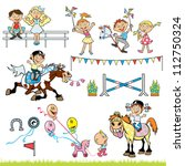 Riders Vector Set With Childre...