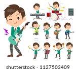 a set of school boy playing... | Shutterstock .eps vector #1127503409