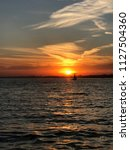 warm summer night  sunset in... | Shutterstock . vector #1127504360