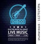 disco electro music invitation... | Shutterstock .eps vector #1127519396