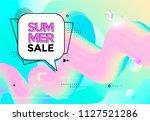 summer sale banner pastel color.... | Shutterstock .eps vector #1127521286