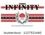 summer infinity modern fashion... | Shutterstock .eps vector #1127521460