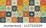 talavera pattern.  indian... | Shutterstock .eps vector #1127522039