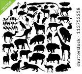 animal silhouettes vector | Shutterstock .eps vector #112752358