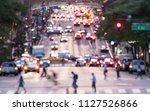 crosstown traffic blurred...   Shutterstock . vector #1127526866