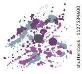 graffiti spray stains grunge... | Shutterstock .eps vector #1127534600