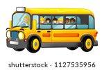 funny looking cartoon yellow... | Shutterstock . vector #1127535956