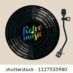 vector poster with a vinyl... | Shutterstock .eps vector #1127535980