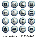 furniture vector icons for web...   Shutterstock .eps vector #1127536448