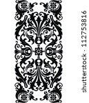 vintage design swirling... | Shutterstock . vector #112753816
