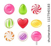 set of sweets on white... | Shutterstock . vector #1127540183