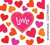 vector love card or poster... | Shutterstock .eps vector #112754104