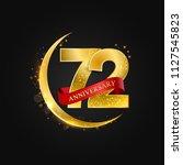 eid al adha 72 years... | Shutterstock .eps vector #1127545823