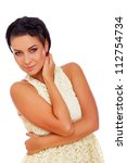 portrait of sexy woman posing... | Shutterstock . vector #112754734