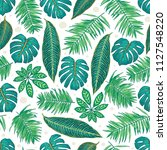 seamless pattern with tropical... | Shutterstock .eps vector #1127548220