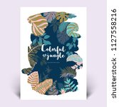 colorful botanical invitation... | Shutterstock .eps vector #1127558216