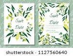 eucalyptus vector. wedding...   Shutterstock .eps vector #1127560640