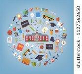 the world of education. school... | Shutterstock .eps vector #1127562650
