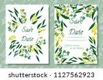eucalyptus vector. wedding...   Shutterstock .eps vector #1127562923
