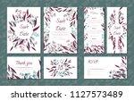floral vintage cards set for... | Shutterstock .eps vector #1127573489