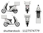 delivery scooter vector mockup... | Shutterstock .eps vector #1127574779