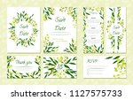 eucalyptus design. wedding... | Shutterstock .eps vector #1127575733