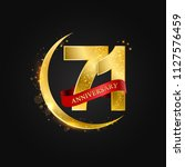 eid al adha 71 years... | Shutterstock .eps vector #1127576459