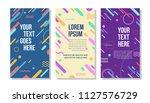 colorful minimalist line art... | Shutterstock .eps vector #1127576729