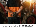 asian tractor laborer repair... | Shutterstock . vector #1127576966