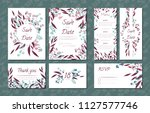 floral vintage cards set for... | Shutterstock .eps vector #1127577746