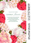 template for greeting cards ... | Shutterstock .eps vector #1127578859