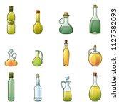 vinegar bottle icons set.... | Shutterstock .eps vector #1127582093