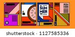 summer colorful poster design... | Shutterstock .eps vector #1127585336