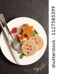 foie gras with gingerbread toast | Shutterstock . vector #1127585399