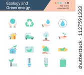 ecology and green energy icons. ... | Shutterstock .eps vector #1127591333