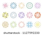fireworks display icons | Shutterstock .eps vector #1127592233