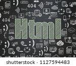 programming concept  chalk...   Shutterstock . vector #1127594483