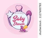 baby shower design | Shutterstock .eps vector #1127600783