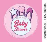 baby shower design | Shutterstock .eps vector #1127600786