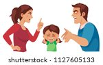 husband and wife quarrel ... | Shutterstock .eps vector #1127605133